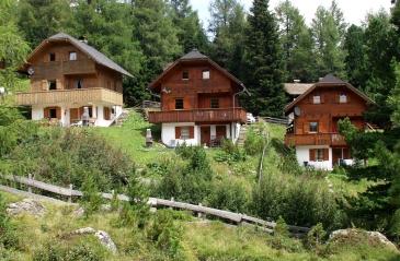 Alm-, Mai- und Falkertbach Hütte im Sommer